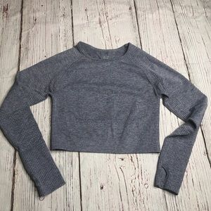 Gymshark Dupe Vital Seamless Long Sleeve Crop Top